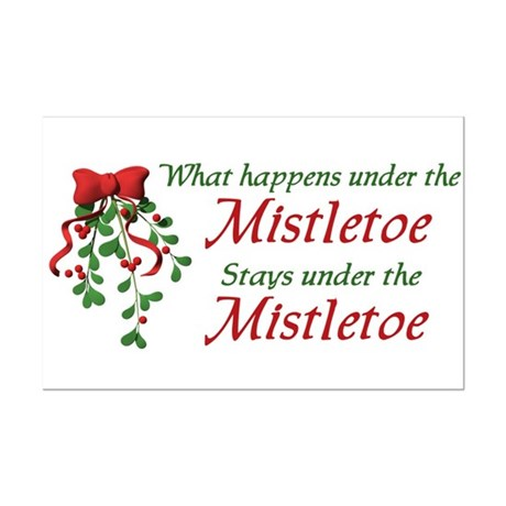 Under the Mistletoe Mini Poster Print