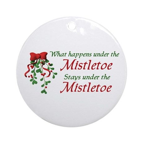 Under the Mistletoe Ornament (Round)