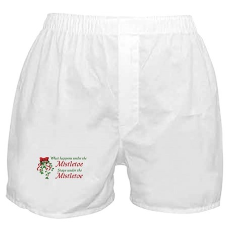 Under the Mistletoe Boxer Shorts
