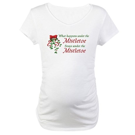 Under the Mistletoe Maternity T-Shirt