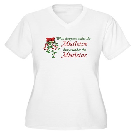 Under the Mistletoe Women's Plus Size V-Neck T-Shi