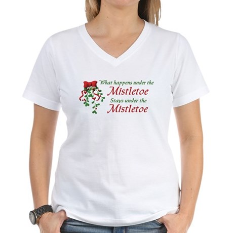 Under the Mistletoe Women's V-Neck T-Shirt