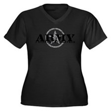 Army - I Support My Brother Women's Plus Size V-Ne