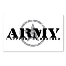 Army - I Support My Brother Rectangle Decal