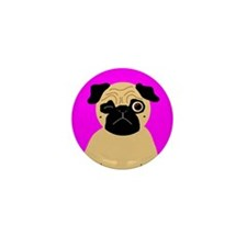 Wink, the Pug Mini Button