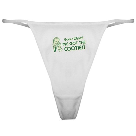 I've Got the Cooties Classic Thong