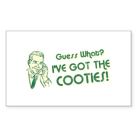 I've Got the Cooties Rectangle Sticker