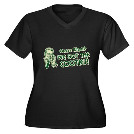 I've Got the Cooties Womens Plus Size V-Neck Dark