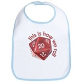 How We Roll (20's) Bib