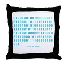 """""""I Love You Daddy"""" in Binary -  Throw Pillow"""
