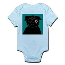 Wink, the Pug Infant Bodysuit