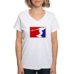 Major League Wakeboarding Women's V-Neck T-Shirt