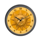 Sun Face Wall Clock
