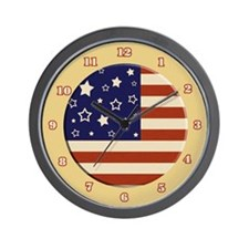 Fun American Flag Wall Clock