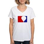 Major League Hot Air Balloon Women's V-Neck T-Shir
