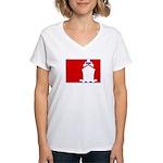 Major League Cruising Women's V-Neck T-Shirt