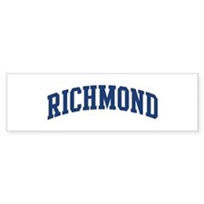 RICHMOND design (blue) Bumper Bumper Sticker