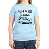 I (heart) Books T-Shirt