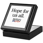 Hope for us all: Hillary 2008 Keepsake Box