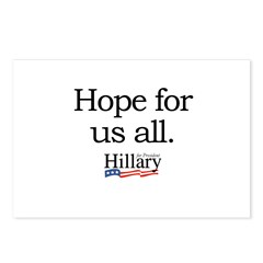 Hope for us all: Hillary 2008 Postcards (Package o