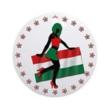 Sexy Girl Hungary 1 Ornament (Round)