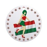 Sexy Girl Hungary 2 Ornament (Round)