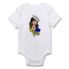 Sexy Navy Girl Tattoo Infant Bodysuit