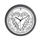 Seventh Pentacle of Saturn Wall Clock