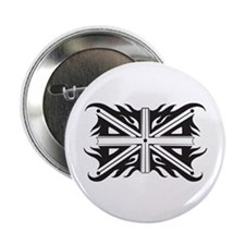 "Black and White Union Jack 2.25"" Button"