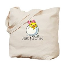 Just HATCHED Girl Chick Tote Bag