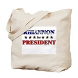 RHIANNON for president Tote Bag