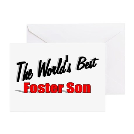 """The World's Best Foster Son"" Greeting Cards (Pk o"