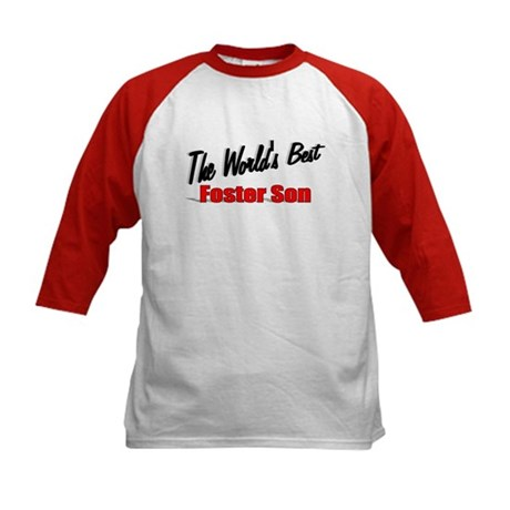 """The World's Best Foster Son"" Kids Baseball Jersey"