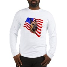 Brindle Patriot Dane Long Sleeve T-Shirt