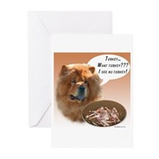 Chow Chow Turkey Greeting Cards (Pk of 10)
