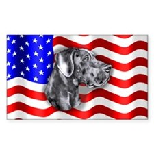 Blue UC Patriot Dane Rectangle Decal