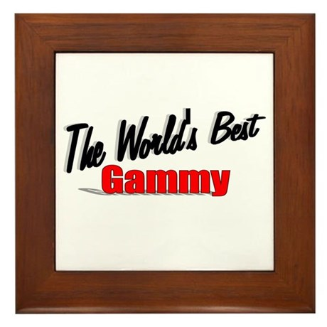 """The World's Best Gammy"" Framed Tile"