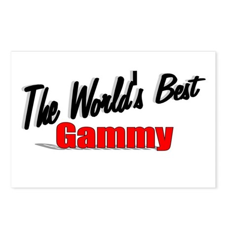 """The World's Best Gammy"" Postcards (Package of 8)"