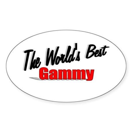 """The World's Best Gammy"" Oval Sticker"