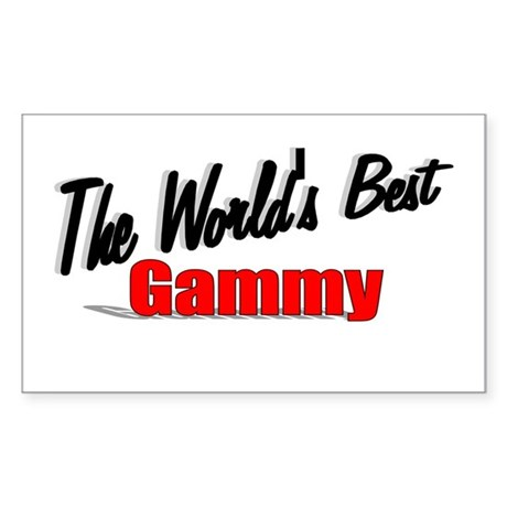 """The World's Best Gammy"" Rectangle Sticker"
