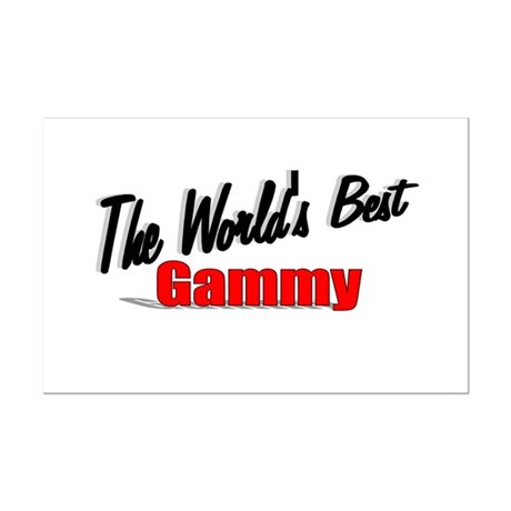 """The World's Best Gammy"" Mini Poster Print"