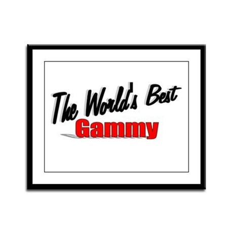 """The World's Best Gammy"" Framed Panel Print"