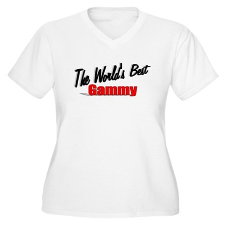 """The World's Best Gammy"" Women's Plus Size V-Neck"