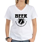 Beer - Helping White People D Women's V-Neck T-Shi