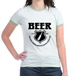 Beer - Helping White People D Jr. Ringer T-Shirt
