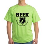 Beer - Helping White People D Green T-Shirt