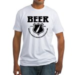 Beer - Helping White People D Fitted T-Shirt