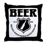 Beer - Helping White People D Throw Pillow