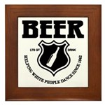 Beer - Helping White People D Framed Tile
