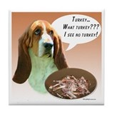 Basset Hound Turkey Tile Coaster